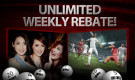 0.38% Unlimited Rebate Weekly!