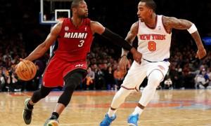 Dwayne Wade Miami Heat v New York Knicks