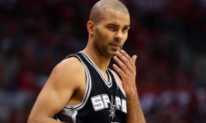 San Antonio Spurs guard Tony Parker nba 2014 finals