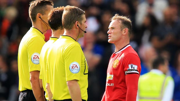 Manchester United captain Wayne Rooney says sorry for red card