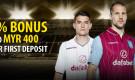 Dafabet Welcome Bonus – Up to MYR400 1st Deposit
