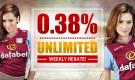 0.38% Unlimited Rebate Weekly!