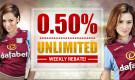 0.50% Unlimited Rebate Weekly!