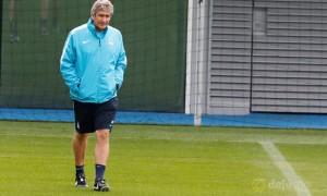 Manchester City boss Manuel Pellegrini eyes a welcome break