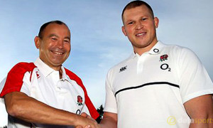 Dylan Hartley and Eddie Jones Rugby Union