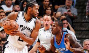 Kawhi Leonard San Antonio Spurs v Oklahoma City Thunder NBA