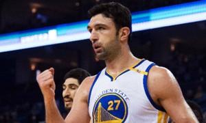 Golden-State-Warriors-Zaza-Pachulia-and-David-West-NBA