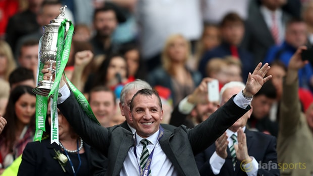 Brendan Rodgers revels in Celtic treble