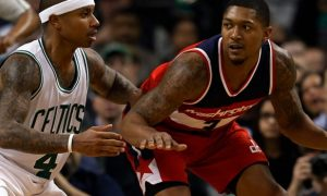 Wizards-guard-Bradley-Beal-and-Isaiah-Thomas