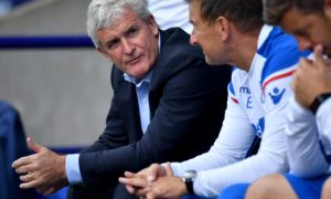 Stoke manager Mark Hughes - Bolton Wanderers v Stoke City