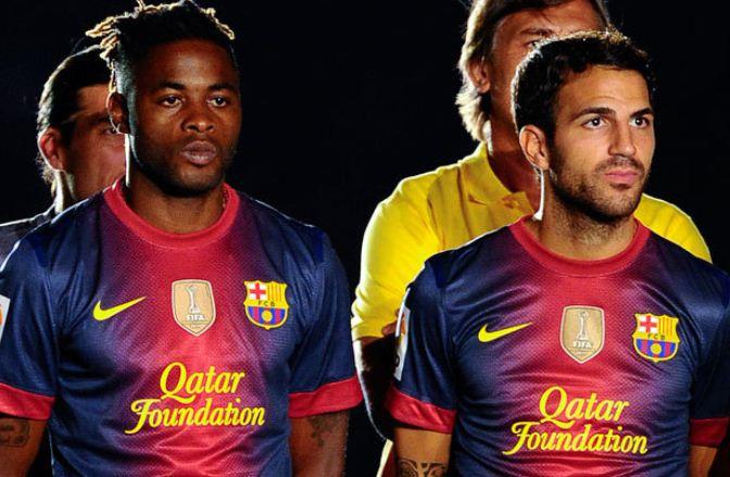 Barcelona Alex Song Cesc Fabregas