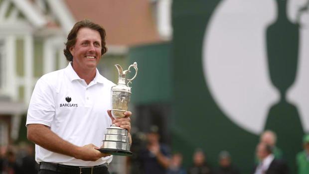 Open Championship winner Phil Mickelson