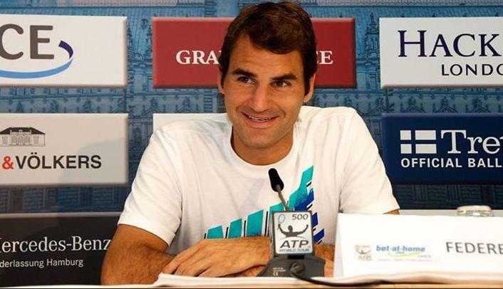 Roger Federer return German Open tennis