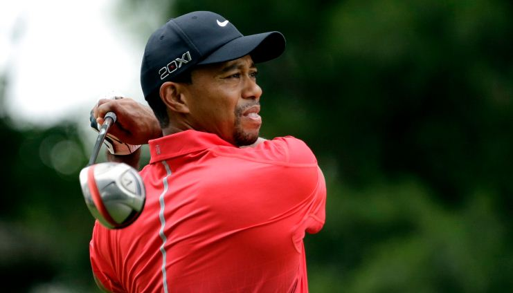 Tiger Woods Open Championship golf elbow injury