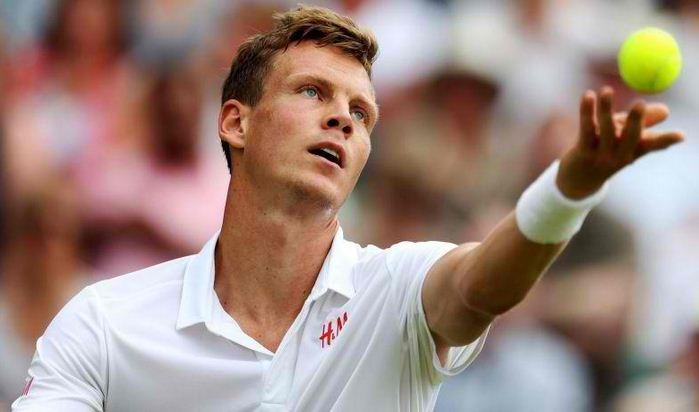 Tomas Berdych Swedish Open out