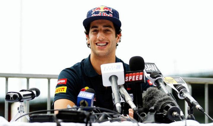Toro Rosso driver Daniel Ricciardo Red Bull Young Driver Test formula one