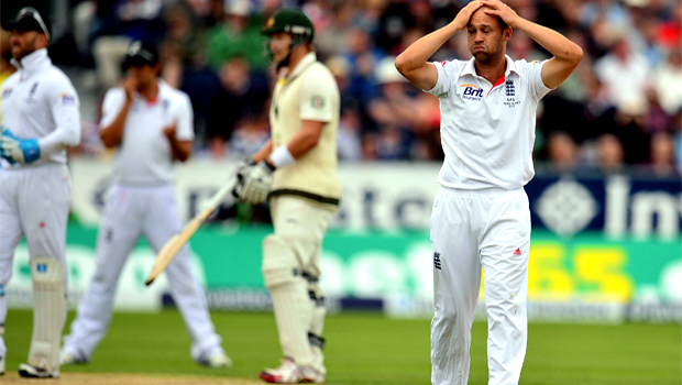 Batsman Jonathan Trott England frustrated fourth Ashes Test