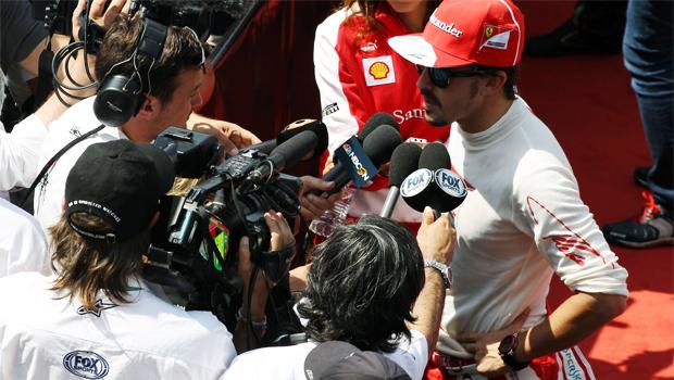 Ferrari Fernando Alonso comment press