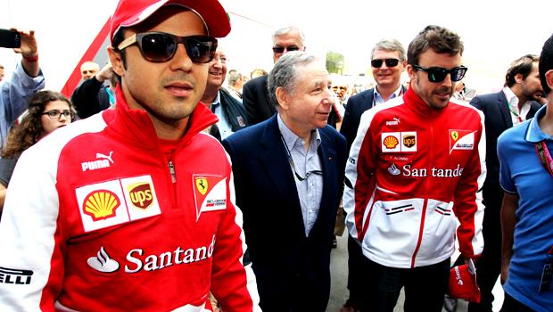 Ferrari pair Fernando Alonso and Felipe Massa