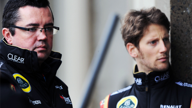 Lotus team principle Eric Boullier