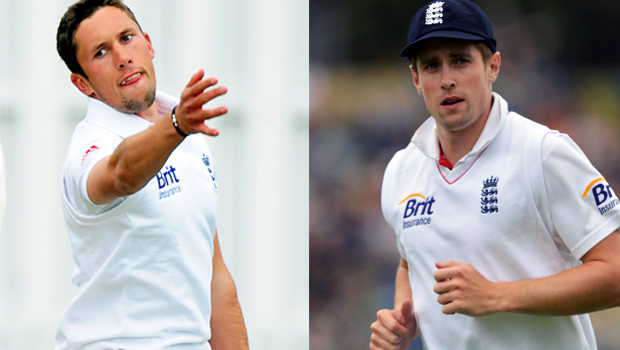 Simon Kerrigan and Chris Woakes ashes