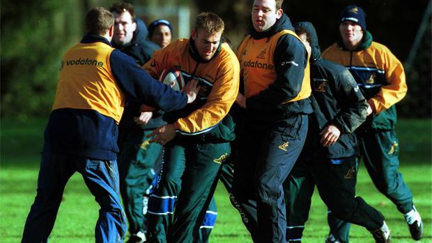 Australian Wallabies Rugby union team practice