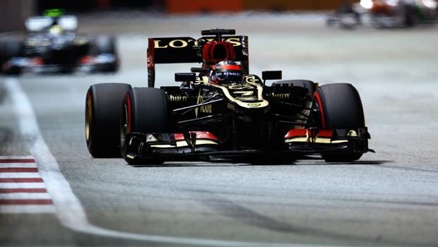 Kimi Raikkonen lotus Singapore Grand Prix
