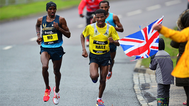 double Olympic and world champion Mo Farah beaten by Kenenisa Bekele