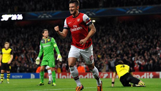Arsenal Olivier Giroud happy with team