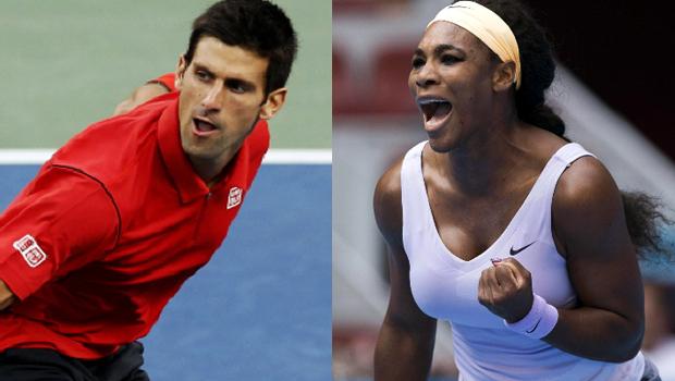 China Open Serena Williams and Novak Djokovic