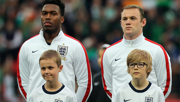 Wayne Rooney and Daniel Sturridge in england world cup squad
