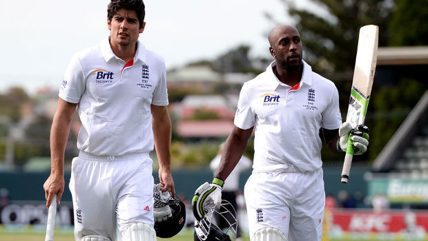 Alastair Cook and Michael Carberry England v Australia