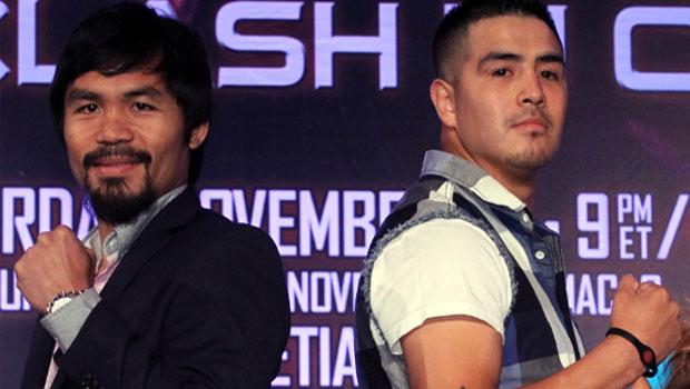 Brandon Rios v Manny Pacquiao boxing