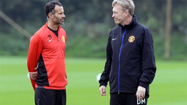 David Moyes and Ryan Giggs Manchester United