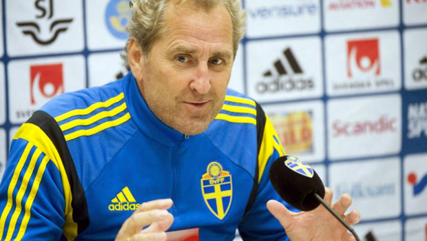 Erik Hamren Sweden v Portugal