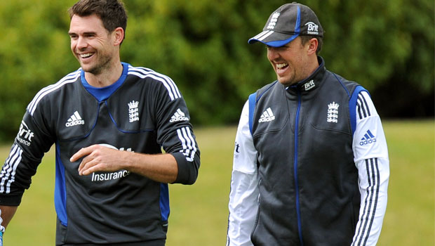 James Anderson and Graeme Swann cricketer