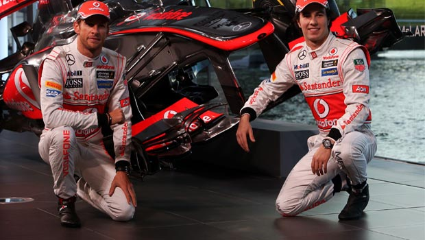 Jenson Button and Sergio Perez McLaren