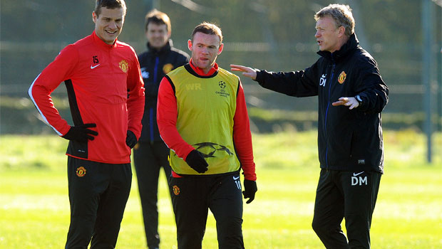 Manchester United training against Real Sociedad