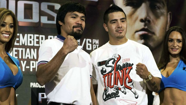 Manny Pacquiao v Brandon Rios boxing