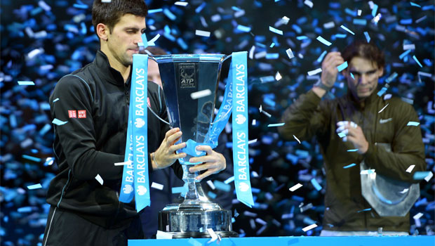 Novak Djokovic defeated Rafael Nadal ATP World Tour Finals