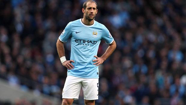 Pablo Zabaleta Manchester City v Norwich City