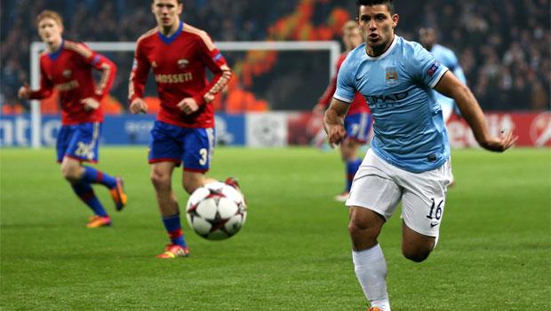 Sergio Aguero Manchester City v CSKA Moscow
