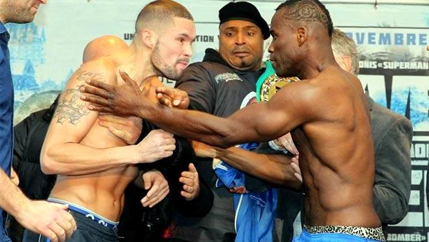 Tony Bellew and WBC champion Adonis Stevenson