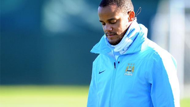 Vincent Kompany out for Manchester City v tottenham