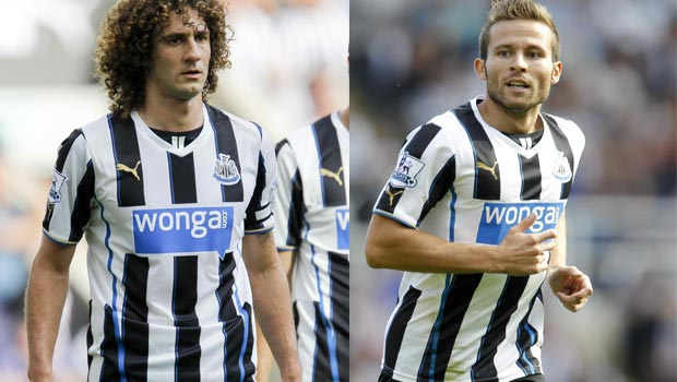 Yohan Cabaye and Fabricio Coloccini newcastle