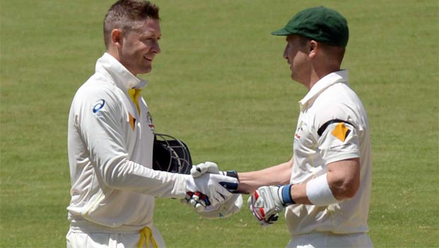 Brad Haddin and Michael Clarke Cricket