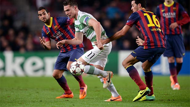 Celtic loss to Barcelona