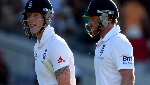 England cricketers on ashes