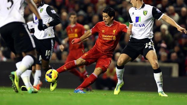 Luis Suarez striker liverpool fc
