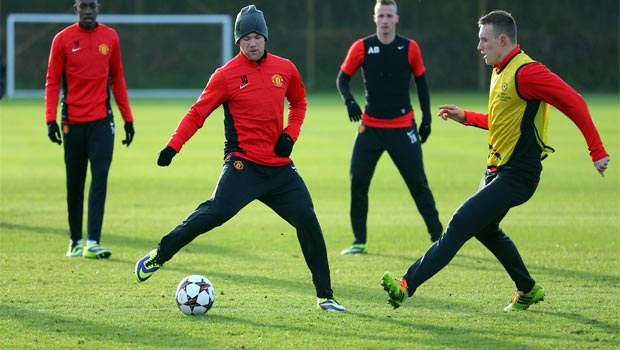 Manchester United Training for champions league